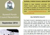 Parish Council News Letter September 2014