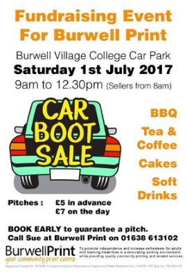 Burwell Print Car Boot Poster